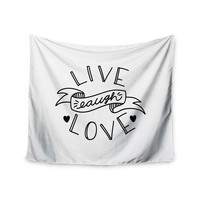 "Busy Bree ""LLL"" Black White Wall Tapestry"