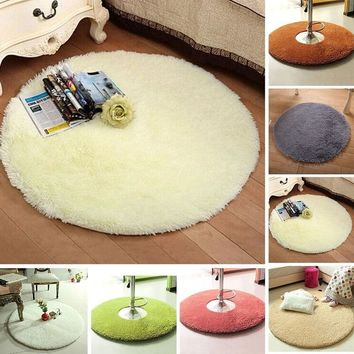 Home Decor Large Fluffy Rugs Anti-Skid Shaggy Area Rug Room Living Room Bedroom Carpet Round Floor Mat, 12 Colors
