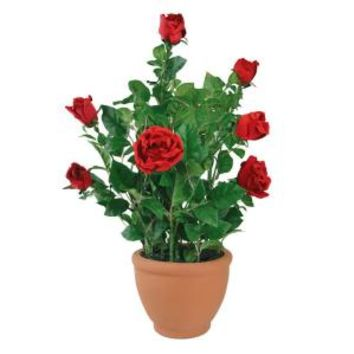 "GKI / Bethlehem Lighting, 27.5"" Potted Rose Bush with 15 LED Lights Red-DISCONTINUED, 100041113 at The Home Depot - Mobile"