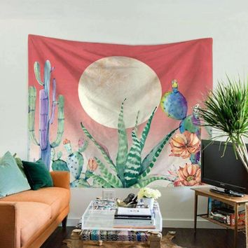 Unique Cactus Wall Tapestry