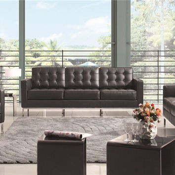 U-BEST The Florence Knoll Sofa, Loveseat, and Chair, interior design section sofa set , Knoll Lounge Sofa  in real leather