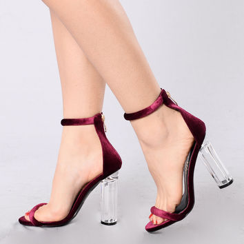 Saturday Night Diva Heel - Wine