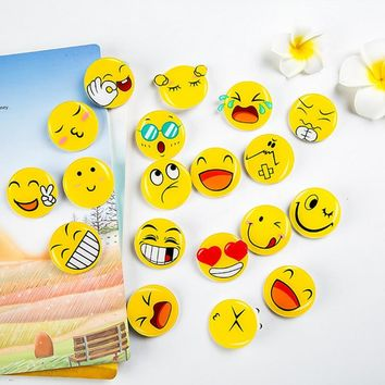 4 pcs/lot cartoon emoji icons fashion style acrylic airplane brooch button pins denim jacket pin badge for clothes