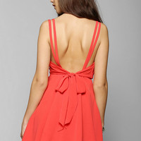 Pins And Needles Crepe Surplice Dress - Urban Outfitters