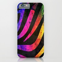 COSMIC ZEBRA PATTERN for iphone iPhone & iPod Case by Simone Morana Cyla
