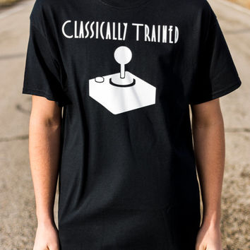 Classically Trained, gaming shirts, video game shirts, video games, nerd shirts, funny shirts, t-shirts