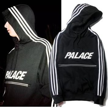 Palace Skateboards Classic Triangle Print Mens Hoodies for men basic Autumn Clothing cotton Length sleeve tees