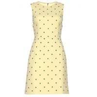 dolce & gabbana - crystal-embellished wool-blend mini dress
