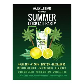 Summer Cocktails Club/Corporate Party Invitation Flyer