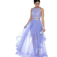Camila Lavender Two Piece Prom Dress