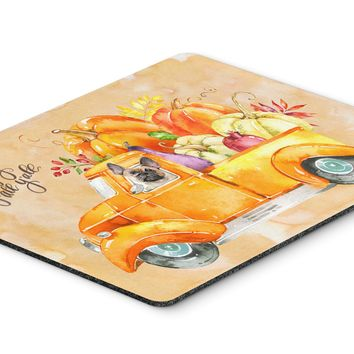 Fall Harvest Fawn French Bulldog Mouse Pad, Hot Pad or Trivet CK2666MP