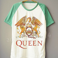 QUEEN T-Shirt Freddie Mercury T-Shirt British Rock T-Shirt Short Sleeve Shirt Short Baseball Shirt Unisex T-Shirt Women T-Shirt Men T-Shirt