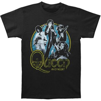 Queen Men's  In Concert Slim Fit T-shirt Black