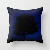 Tree Eclipse Throw Pillow by RichCaspian | Society6