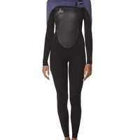 O'NEILL WOMENS EPIC 3X2 BZ STEAMER WETSUIT - BLACK DENIM WATERMELON