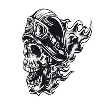 2016 Hot Sale The New Motorcycle Helmet Personality Skull Pattern Men's Arm Tattoo Sticker Craft paper Tattoo Body Art Anne