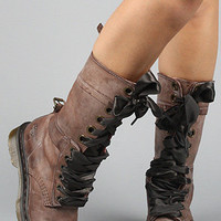 The Triumph 1914 14Eye Boot in Brown : Dr. Martens : Karmaloop.com - Global Concrete Culture