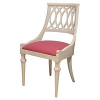 Curved Back White Side Chair | Pieces