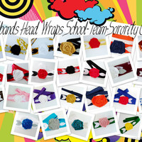 School/Team Colors Wholesale Headbands, Set of 25 headbands, Various Headband colors, Head wrap, Women, Girls, Teens,