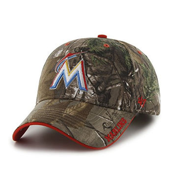 MLB Miami Marlins Realtree Frost '47 MVP Adjustable Hat, Realtree Camouflage, One Size,Realtree Camouflage