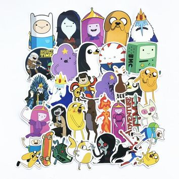 30Pcs/Lot American 2018 Drama Adventure Time Funny Waterproof Sticker Decal For Car Laptop Bicycle Motorcycle Notebook  Stickers