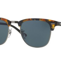 RAY BAN 0RB3016 Clubmaster Men Sunglasses Tortoise/Blue