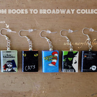 BOOKS to BROADWAY Earring Pair Phantom of the by maryfaithpeace