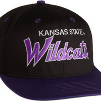 NCAA Kansas State Wildcats Script College Snap Back Team Hat, Black, One Size
