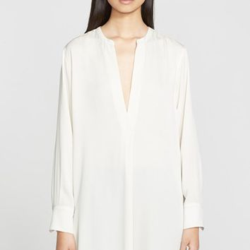 Women's Helmut Lang Stretch Silk V-Neck Tunic,