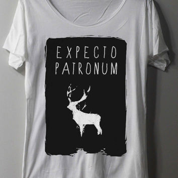 EXPECTO PATRONUM Shirt Harry Potter Shirt Magic Spell Shirts TShirt T Shirt Tee Shirts - Size M L