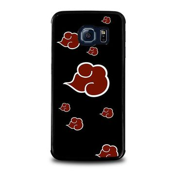 naruto akatsuki clouds samsung galaxy s6 edge case cover  number 1