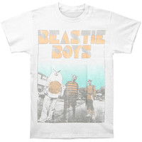 Beastie Boys Men's  Costume Halftone T-shirt White