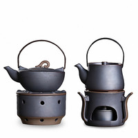 Unique Ceramic Japanese Style Teapot With Alcohol Stove