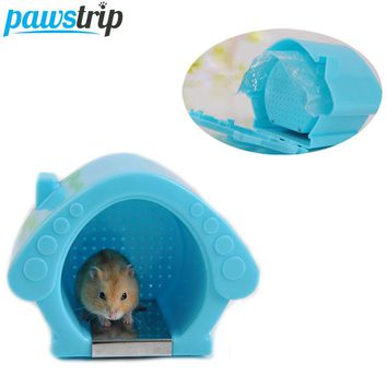 Cooling Summer Hamster Cage House Hanging Breathable Guinea Pig Ferret Rabbit Cage Bed House With Ice Bag 13.5x9x10.5cm