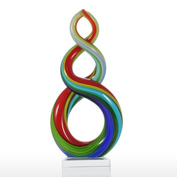 Colorful Ribbon Glass Sculpture