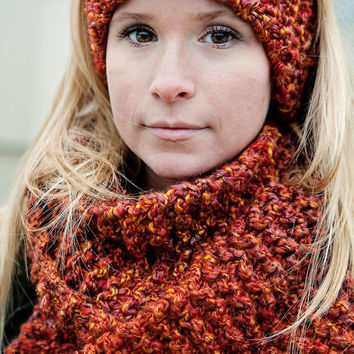 PDF Quick and Easy Infinity Scarf KNITTING Pattern