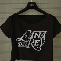 Lana Del Rey logo Shirt crop tee Black shirt Crop Top For Women one size fix all