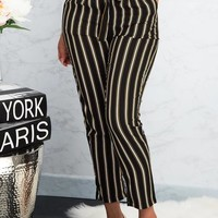 Giselle Striped Pants Black/Mustard