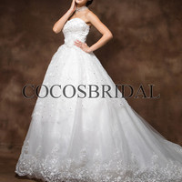 2013 new style/Chapel Train wedding dress/long wedding dresses/Sweetheart bridal dress/a line bridal gowns/tulle long bride dress/ zyhz0033