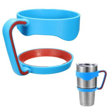 Hot Portable Plastic Black Water Bottle Mugs Cup Handle For 30 Ounce Tumbler Rambler Cup Hand Holder Fit Travel Drinkware