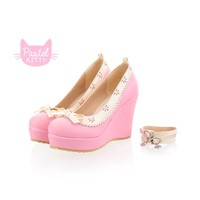 Sweet Pastel Wedge Shoes