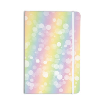 "KESS Original ""Pastel Prism"" Rainbow Bokeh Everything Notebook"