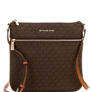 MICHAEL Michael Kors Bedford Signature Flat Cross-Body Bag