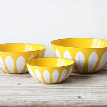 "7"" Cathrineholm Yellow Bowl"