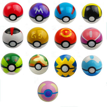 13 Color Pokemon Ball Figures ABS Anime Pokemon Toys PokeBall Super Master Pokemon Ball Toys Pokeball Action Figures
