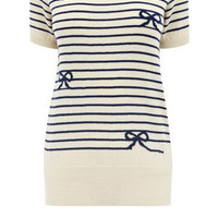 Oasis English Country Garden | Multi White Stripe Boat Top | Womens Fashion Clothing | Oasis Stores UK