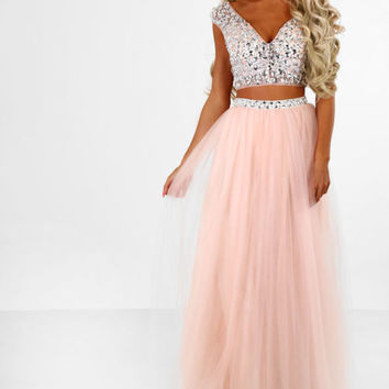 Limited Edition Party Princess Pink Embellished Tulle Two Piece