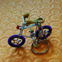 HANDMADE / KIDS TOYS/little bicycle with key chain/ home decor /showpiece/cute/abcd/beautiful designed./art / craft.made for order.