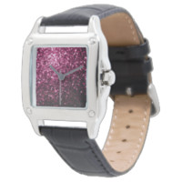 Beautiful Pink glitter sparkles Wrist Watches
