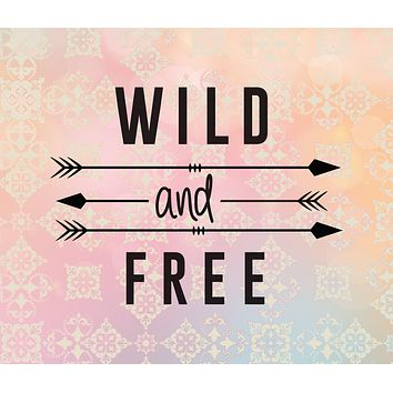 Pastel Wild and Free Quote Tapestry Wall Hanging Meditation Yoga Grunge Hippie Wanderlust